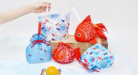 金魚/あさがお市松