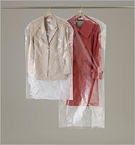 クリーニング屋さんの洋服カバー